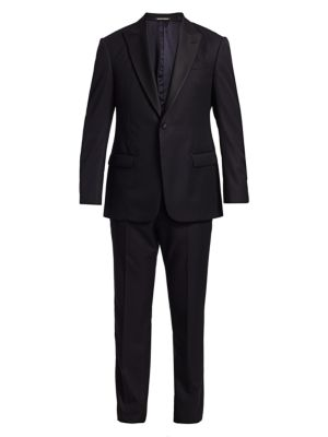 G-Line Micro Tonal Single-Breasted Wool Suit