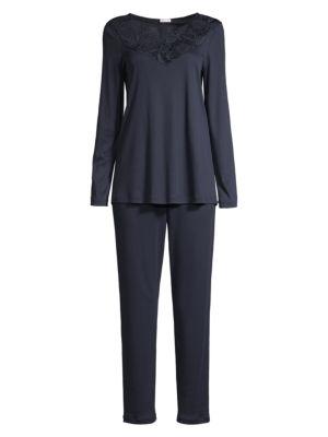 Flora Long-Sleeve Pajama Top & Pant Set