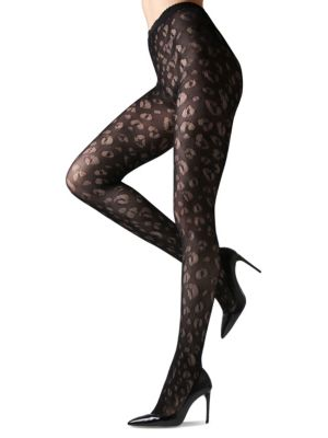 Leopard Net Tights