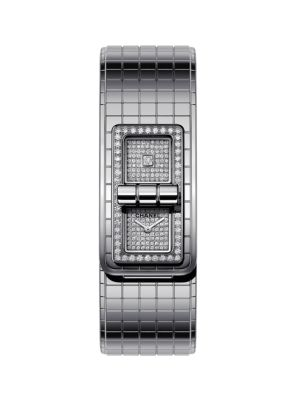 Code Coco Diamond & Stainless Steel Bracelet Watch