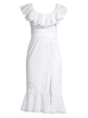 Ella Broderie Anglaise Ruffle Dress