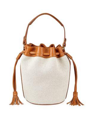 GIGI NEW YORK | Genevieve Canvas & Leather Bucket Bag | Goxip