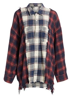 Two-Tone Plaid Combo Workshirt