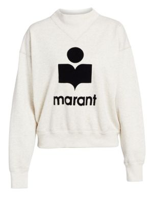 ISABEL MARANT ÉTOILE | Moby Logo Sweatshirt | Goxip