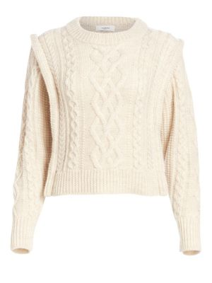 ISABEL MARANT ÉTOILE | Tayle Cableknit Wool Sweater | Goxip