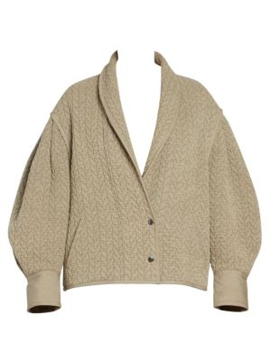Frany Quilted Blouson Sleeve Jacket