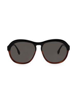 58MM Burnout Oversized Round Sunglasses