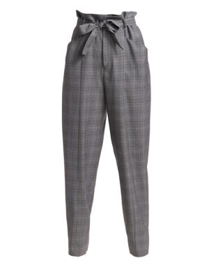 ISABEL MARANT ÉTOILE | Vittoria Plaid High Waist Trousers | Goxip