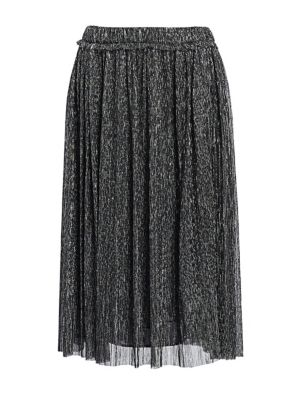 Beatrice Lurex Pleated Midi Skirt