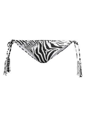 Zebra Tie Bikini Bottom