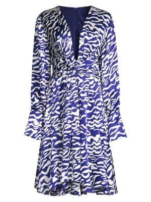 Charmeuse Animal-Print Silk Dress