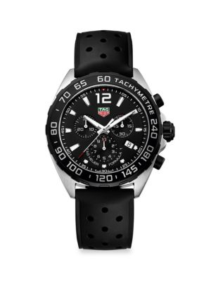 Formula 1 43MM Stainless Steel & Rubber Strap Quartz Chronograph Watch