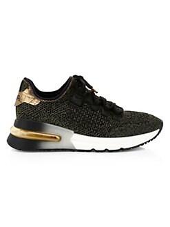 아쉬 크러쉬 스니커즈 ASH Krush High-Tech Sneakers,Black Gold