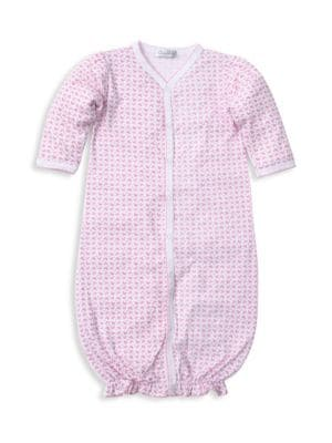 Baby Girl's Pima Cotton Heart Print Convertible Gown