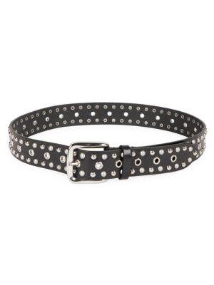 Rica Imitation Pearl & Studded Leather Belt