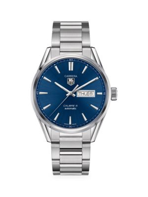 Carrera 41MM Stainless Steel Automatic Day-Date Bracelet Watch