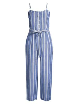 Harper Striped Cropped Jumpsuit