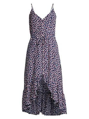RAILS | Frida Ditsy Floral High-Low Midi Dress | Goxip