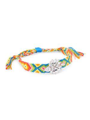 Embellished Woven Multicolor Friendship Bracelet
