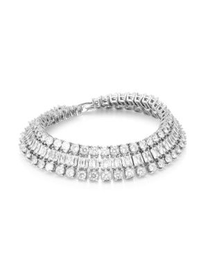 Double Diamante Crystal Bracelet