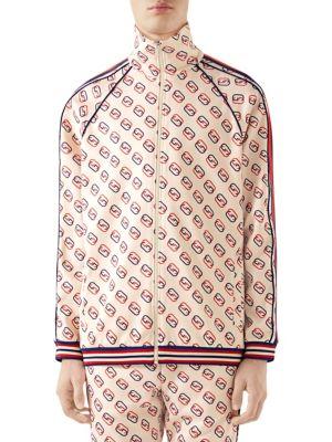 Oversize Printed Jersey Jacket