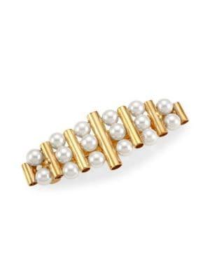 Sageza Faux-Pearl Goldtone Hair Clip