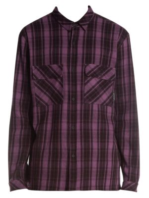 Bumber Car Graphic Plaid Shirt