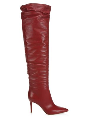 Valeria Over-The-Knee Leather Boots