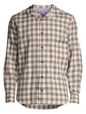 Modern-Fit Camicia Plaid Shirt