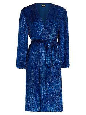 Audrey Sequin Wrap Dress