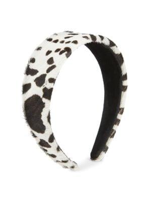 Safari Leopard Calf-Hair Headband