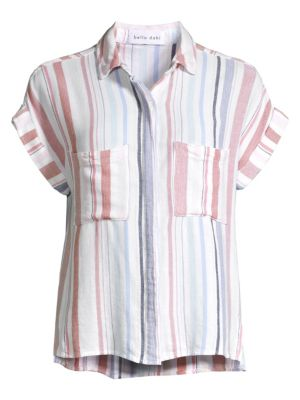 Bella Dahl Cap Sleeve Stripe Shirt