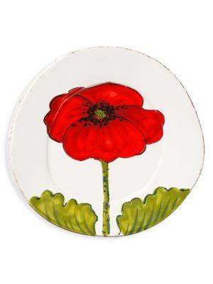 Lastra Ceramic Poppy Salad Plate