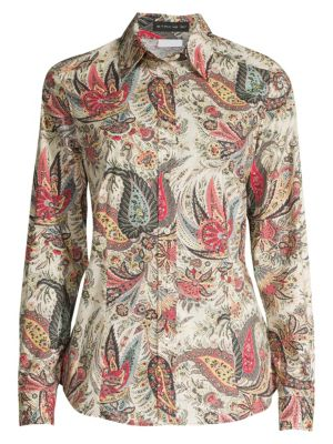 Paisley Cotton Poplin Shirt