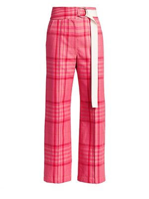 Elo Plaid Belted Pants