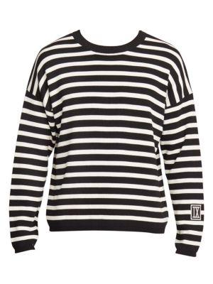 IX Striped Crewneck Sweater