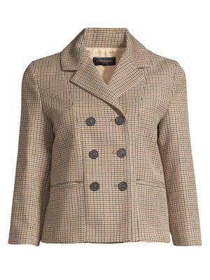 Lifestyle Double-Breasted Tweed Jacket