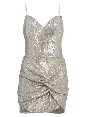 Knotted Sequin Cocktail Dress