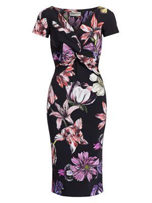 Illye Floral Print Sheath Dress