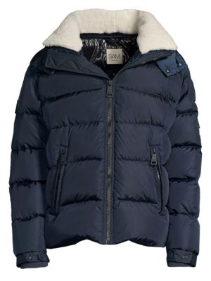 Frontier Shearling Trimmed Quilted Down Jacket