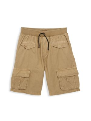 Little Boy's & Boy's Washed Cargo Shorts