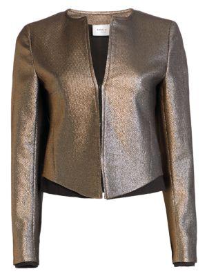 Gold Lamé Roundneck Jacket