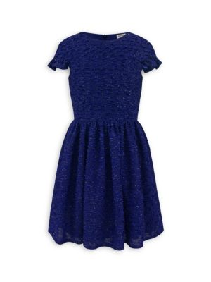 Girl's Royal Boucle Dress