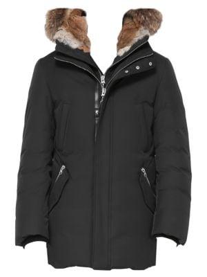Edward Nordic Tech Coyote Fur-Trim & Rabbit Fur-Lined Down Coat