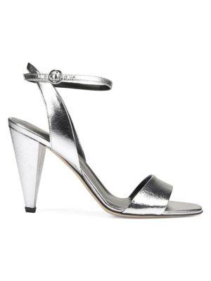 Ria Metallic Leather Sandals