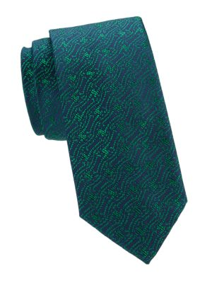 Abstract Rope Silk Tie