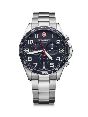 Field Force Chronograph Stainless Steel Bracelet Strap Watch
