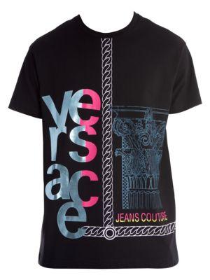 Grecca Chain Logo T-Shirt