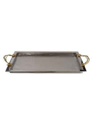 Ivy & Oak Stainless Steel & Brass Serving Tray