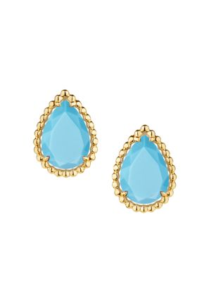 Serpent Bohème 18K Yellow Gold & Turquoise Stud Earrings